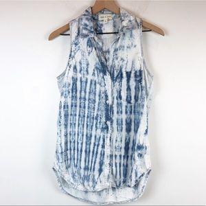 Cloth & Stone Tie Dye Acid Wash Chambray T…